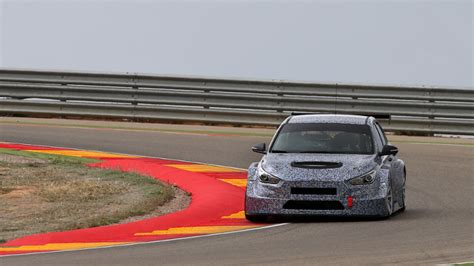 hyundai test track hyundai take to the track for tests with new i30 tcr