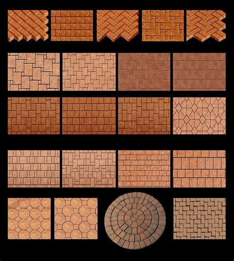 brick paver patterns houses plans designs