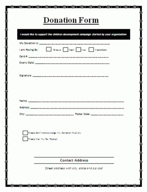 template for donation form 36 free donation form templates in word excel pdf