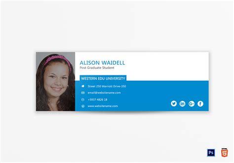 student email signature templates postgraduate student email signature design template in