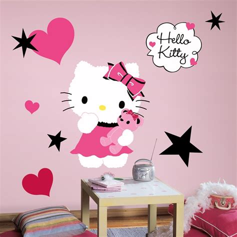 large  kitty couture wall decals girls bedroom stickers pink room decor ebay