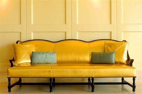 gold leather couch an rainbow indoors 10 colored leather couches