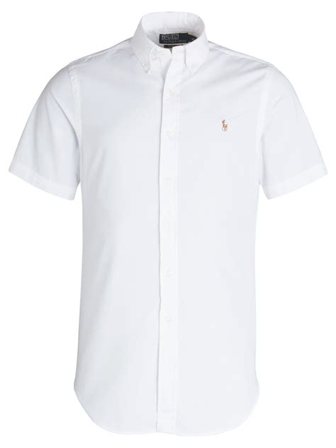 Poloshirt Shanghai White If Kp polo ralph chambray sleeve shirt in white for lyst
