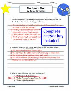 quot the north star quot comprehension worksheets caboodle