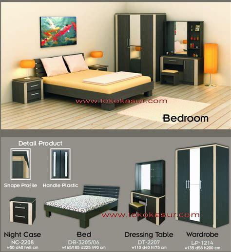 Ranjang Rak Sepatu Nakas Bedroom Set Mini kamar set manhattan toko kasur bed murah