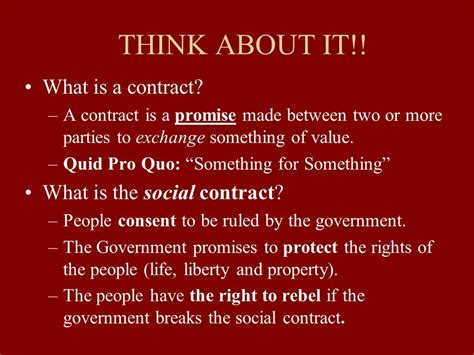 The Social Contract the gallery for gt social contract theory of government