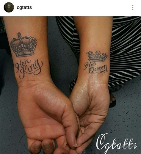 king and queen tattoo umeå her king his queen tattoos tatts pinterest queen
