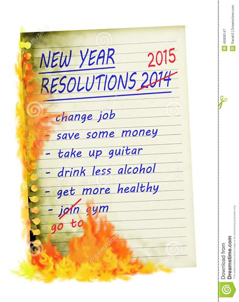 Check Up On Those New Year Resolutions by New Year Resolutions 2015 Up In Smoke Burned