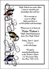 high school graduation invitations for all school graduate graduation