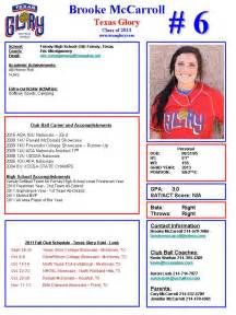 Soccer Player Profile Template by Downloadable Softball Profile Sheet Templates Pictures To