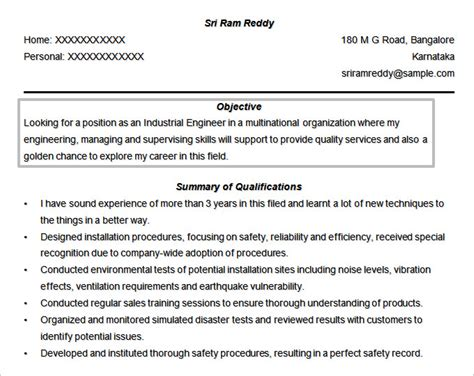 resume objective statement engineering resume objectives 61 free sle exle format