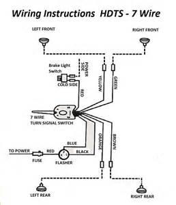 12 volt turn signal switch w led lights flasher rod rat rod kit car