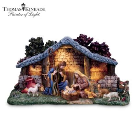 thomas kinkade star of hope nativity collection with super