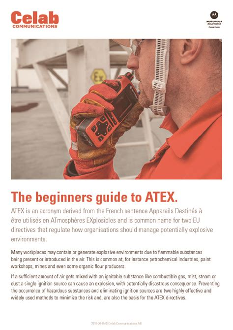 The Beginners Guide To Resources by The Beginners Guide To Atex Celab