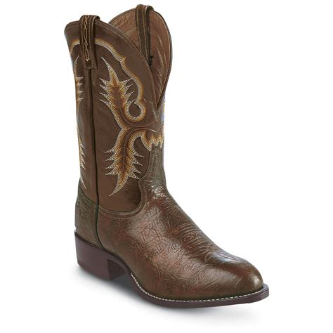 s tony lama 174 11 quot western boots chocolate 109186