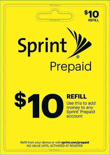 Sprint Gift Card Balance - sprint prepaid 10 top up prepaid card yellow 10 best buy sprint prepaid best buy