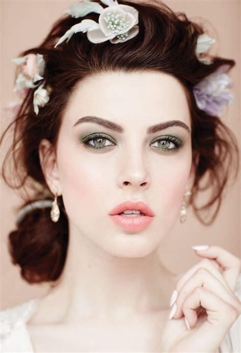 bridal hairstyles in green trends romantic bridal makeup ideas weddingbells