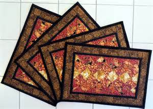 handcrafted quilted fall placemats gold by quiltsbysuewaldrep