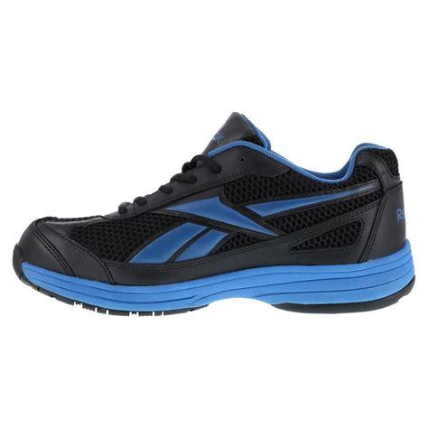 athletic steel toe work shoes reebok rb1620 ketee mens black blue steel toe athletic
