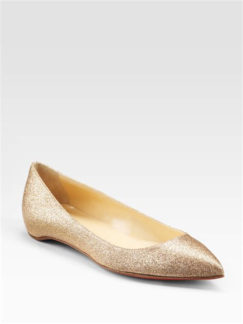 louboutin shoes flats christian louboutin pigalle glittercovered leather ballet