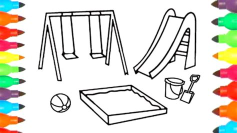 playground coloring pages playground coloring page colours for