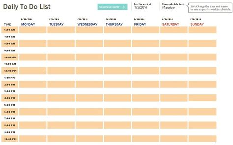 printable to do list with times daily to do list template templates pinterest templates