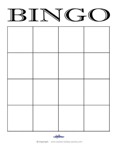 Bingo On Pinterest Bingo Card Template Free