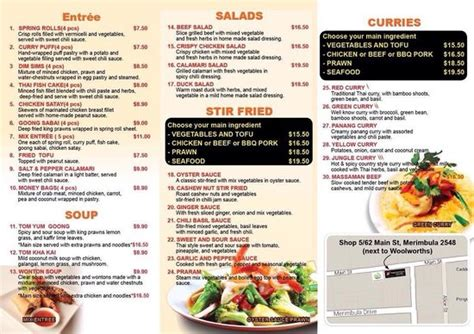 noodle house menu new menu 2014 picture of thai noodle house merimbula tripadvisor