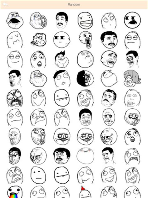 All Meme Faces List And Names - pics for gt all of the troll faces and their names