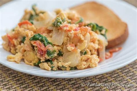 can i give my scrambled eggs scrambled eggs with tomato and spinach panlasang