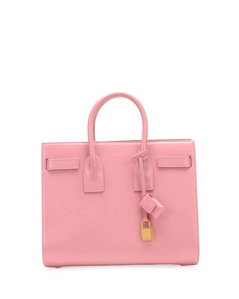 St Flowina Pink T3010 1 laurent sac de jour small carryall bag pink in pink lyst