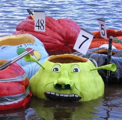 pumpkin boat pumpkin regatta boats halloween pinterest boats