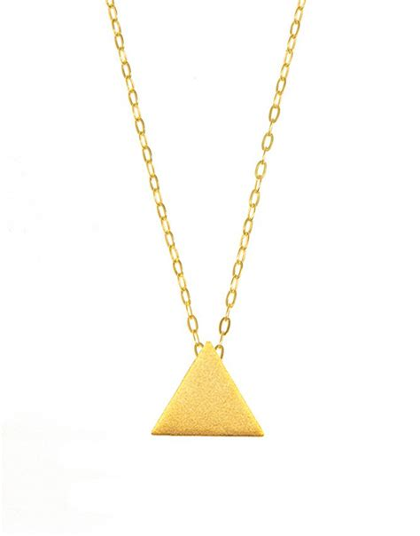 Triangle Pendant Necklace triangle pendant necklace