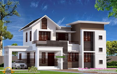 storied home kerala design floor plans plan
