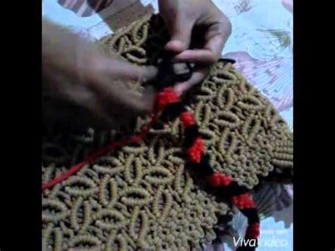 cara membuat tas tali kur 2 warna cara membuat tas tali kur motif pelangi 2 warna by azri