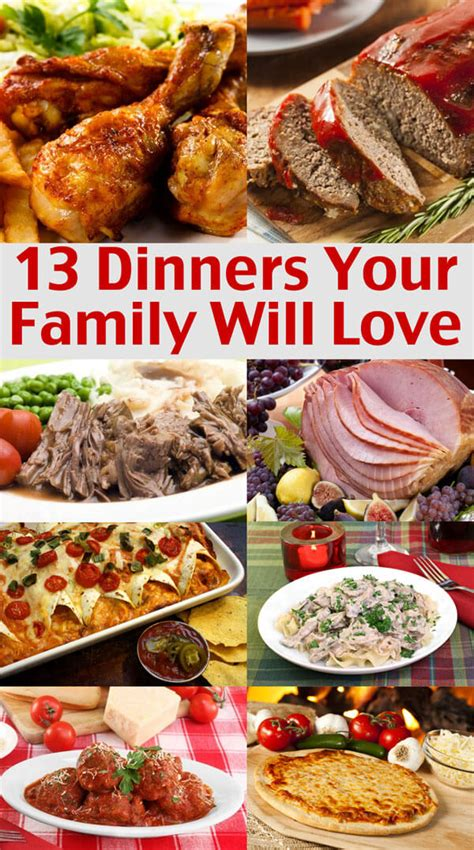 Easy Family easy family menu ideas dinners your family will