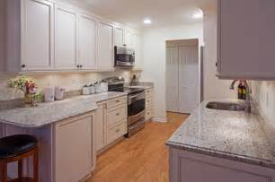 Galley Kitchen White Cabinets White Galley Kitchen Traditional Kitchen Other Metro By Kitchens Inc