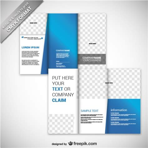 free brochure templates free business brochure templates business