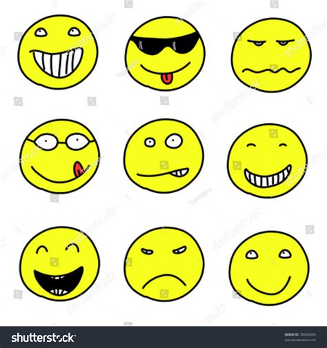 how to do smiley on doodle fit smiley faces doodle emoticon expressions happy sad and