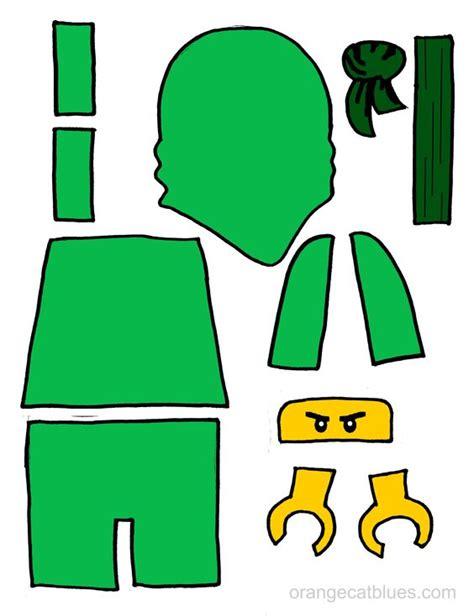 lego ninjago printable cutout for toddler gluestick art