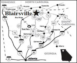 blairsville 5k location and maps
