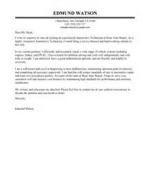 Leading Professional Automotive Technician Cover Letter