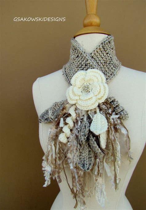 Reserved Listing Y2018 01 reserved listing for c ivory flower scarflette 201 charpes crochet et foulards