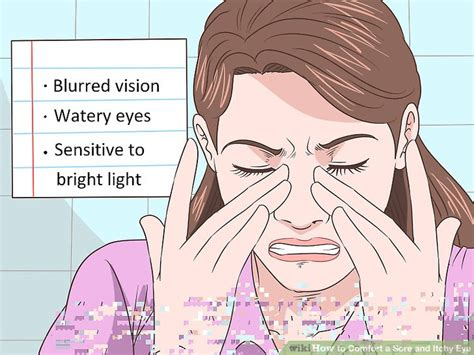 eyes sensitive to light and watery 3 ways to comfort a sore and itchy eye wikihow