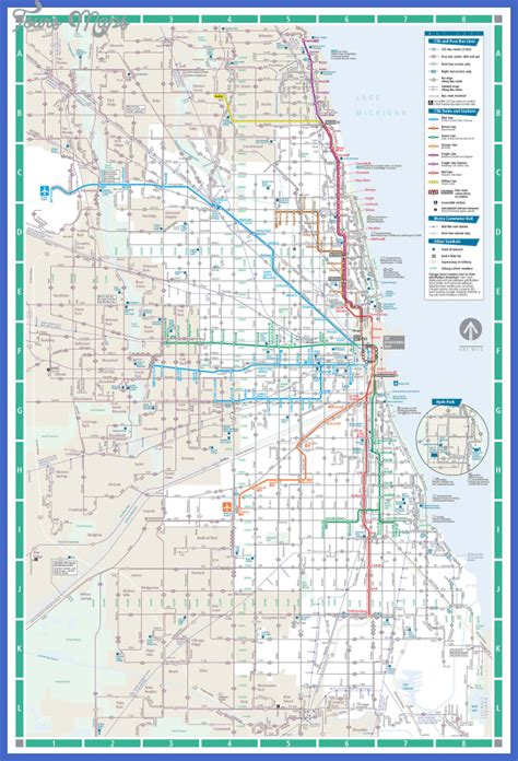 chicago metro map chicago subway map toursmaps