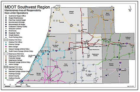 mdot construction map mdot lays out five year construction plan for west