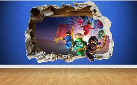 ninjago bedroom lego ninjago 3d style smashed wall sticker kids childrens