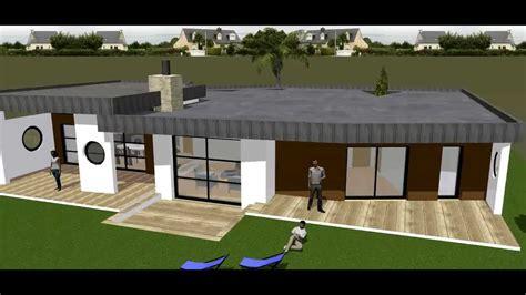Tiny Pool House Plans maison moderne toiture terrasse toit plat batinnov