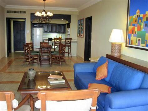 Pueblo Bonito Sunset Beach Executive Suite Floor Plan quot great room quot living room dining room kitchen picture