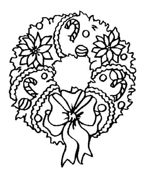 Christmas Wreath Coloring Pages Coloringpages1001 Com Wreaths Coloring Pages